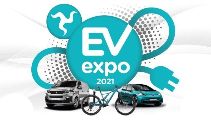 EV Expo 2021 Label with Car, cycle